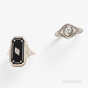 Two Art Deco Rings