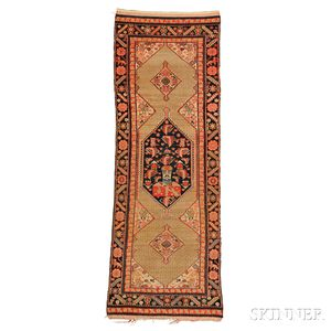 Antique Hamadan Long Rug