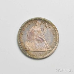 Sold for: $8,610 - 1866 Seated Liberty Proof Dollar