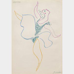 Pablo Picasso (Spanish, 1881-1973)      Danseuse