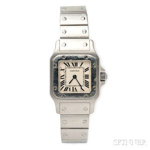 "Lady's Stainless Steel ""Santos"" Wristwatch, Cartier"