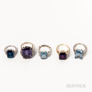 Five Gem-set Rings