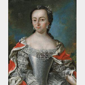 Flemish School, 17th/18th Century      Elegant Lady with Jewels and Ermine