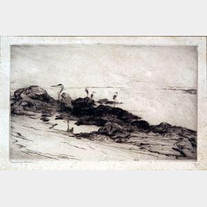 Frank Weston Benson (American, 1862-1951)      Low Tide