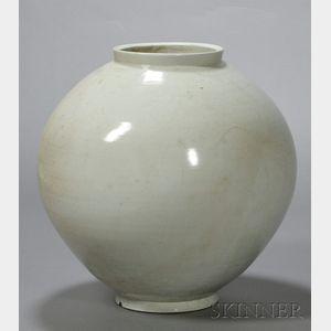 Sold for: $28,440 - Large White Porcelain Jar