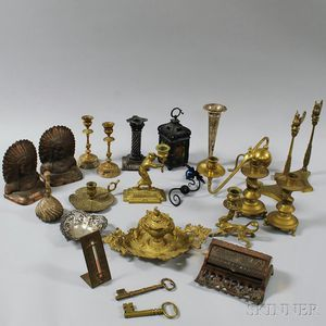 Twenty-three Assorted Metal Items