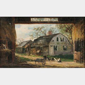 Frank Henry Shapleigh (American, 1842-1906)      Old Barn, Duxbury
