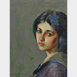 Charles Hovey Pepper (American, 1864-1950)    Study in Gray/A Young Woman