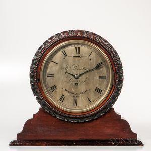 James Condliff Double Dial Mahogany Shelf Clock