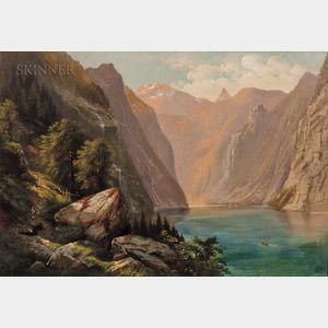 Otto Sommer (American, 1811-1911)      Mountain Lake