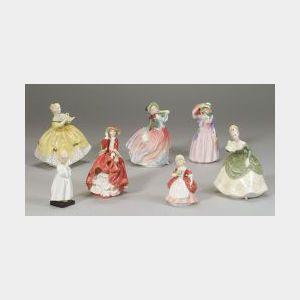 Seven Royal Doulton Porcelain Figures