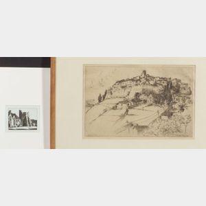 John Taylor Arms (American, 1887-1953)    Lot of Two Views:  Saint Paul, Alpes Maritimes