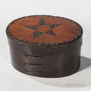 Bent Baleen and Wood Inlaid Ditty Box