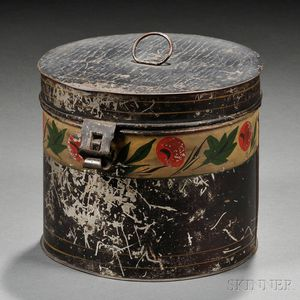 Paint-decorated Tinware Storage Box