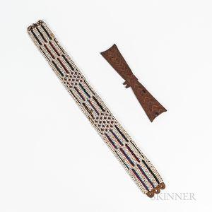 New Guinea Shell Belt and Canoe Ornament