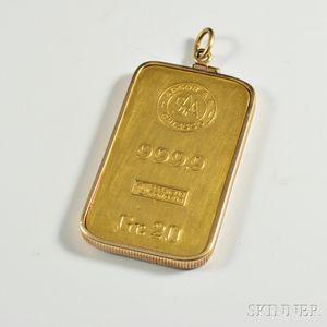 Gold Bar Pendant