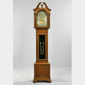 Elliott Oak-cased Tall Clock