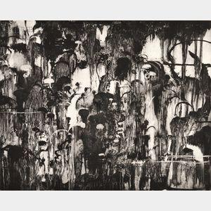 Michael Mazur (American, 1935-2009)      The Dragon's Rockery I
