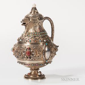 Scottish Victorian Sterling Silver-gilt Jug