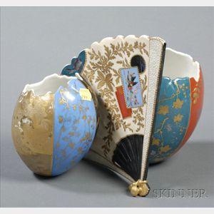 Japonesque-style Porcelain Vase