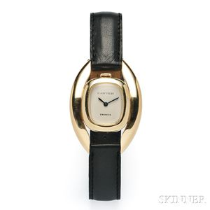 18kt Gold Wristwatch, Alexis Barthelay, Retailed by Cartier