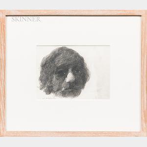 Barnet Rubenstein (American, 1923-2002)      Self-Portrait