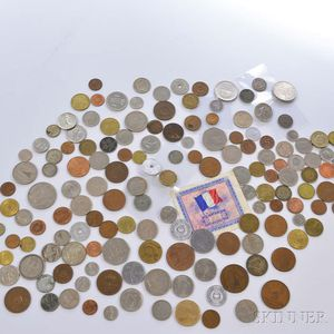 Group of Assorted Foreign and American Coins