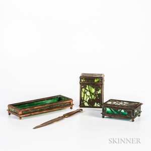 Tiffany Studios Desk Pieces
