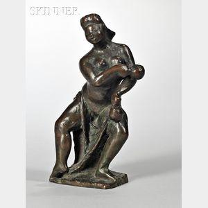 Oronzio Maldarelli  (American, 1892-1963)      Portrait of a Dancer with Maracas