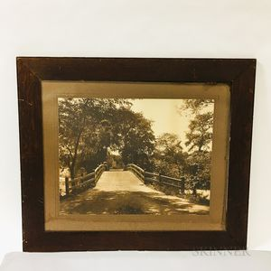 Framed A.W. Elson Carbon Photograph of the Old North Bridge