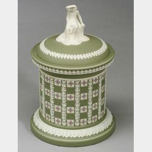 Wedgwood Three Color Diced Jasper Dip Covered Centerpiece
