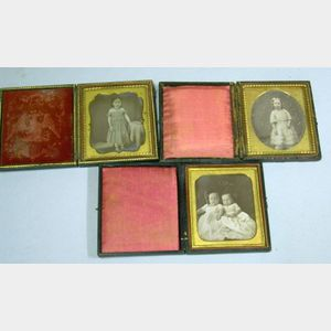 Three Cased Daguerreotype Portraits of Children