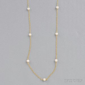 """18kt Gold """"Pearls by the Yard"""" Necklace, Elsa Peretti, Tiffany & Co."""