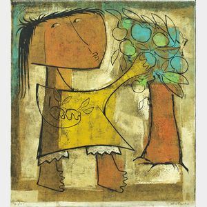Angel Botello (Puerto Rican, 1913-1986)      Apples