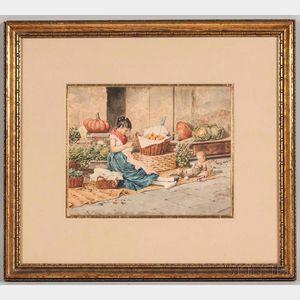 Albert Pierre Roberti (Belgian, 1811-1864)      Between Customers