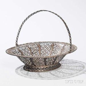 Irish Sterling Silver Cake Basket