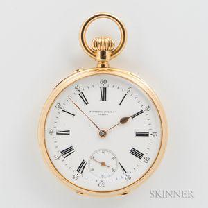 Patek Philippe 18kt Gold Open-face Watch