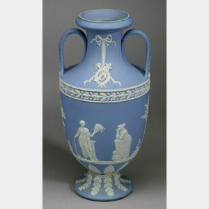 Wedgwood Light Blue Jasper Dip Trophy Vase