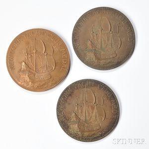 Three Tiffany & Co. Bronze New York Yacht Club Medals