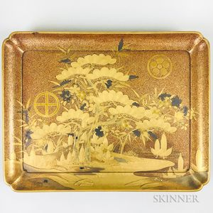 Gold-lacquered Tray
