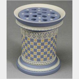 Modern Wedgwood Jasper Dip Dice Ware Potpourri Vase and Cover