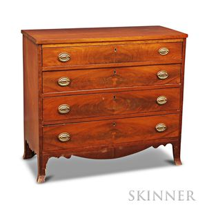 Federal Cherry and Mahogany Veneer Chest of Drawers
