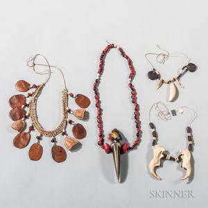Four Tukano Necklaces