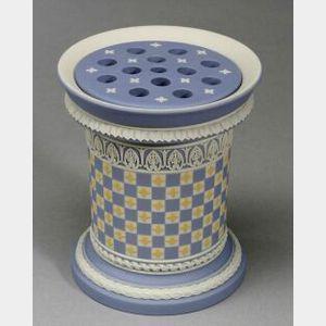 Modern Wedgwood Jasper Dip Diceware Potpourri Vase and Cover