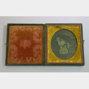 Cased Post-Mortem Ambrotype of a Young Girl