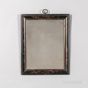 Early Japanned Frame Mirror