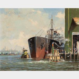 William Lawrence, aka Casper Hjalmar Amundsen (American, 1911-2001)      Brooklyn Docks