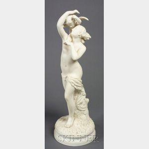 Staffordshire Parian Figure of Cupid Captive