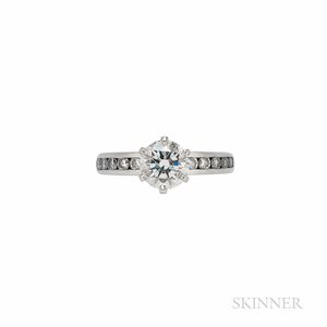 Tiffany & Co. Platinum and Diamond Solitaire