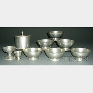 Nine Pewter Items